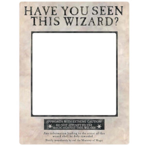Harry Potter White Wanted Selfie Frame Poster with Props