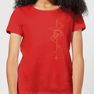 Magic: The Gathering Theros: Beyond Death Asymmetrical Helmet Women's T-Shirt - Red