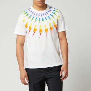 Neil Barrett Men's Fairisle Thunderbolt T-Shirt - White/Multi