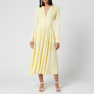ROTATE Birger Christensen Women's Tracy Long Dress - Lemonade