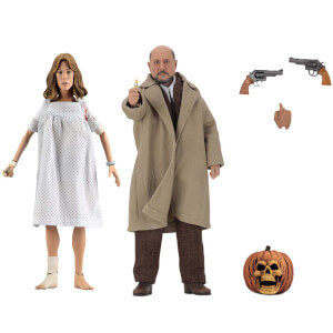 NECA Halloween 2 - 8 Inch Clothed Action Figure - Doctor Loomis and Laurie Strode 2 Pack