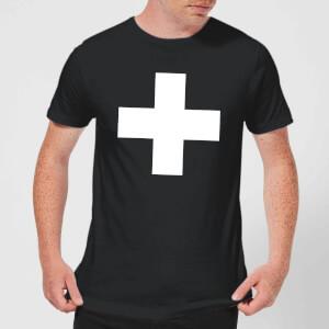 The Motivated Type Swiss Cross Men's T-Shirt - Black
