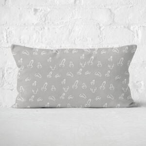 Grey Willy Print Rectangular Cushion