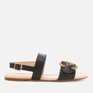 Coach Women's Jen C Leather Double Strap Sandals - Black