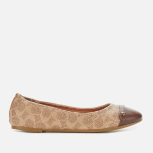 Coach Women's Brandi C Button Ballet Flats - Saddle/Tan