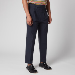 Officine Generale Men's Hugo Light Poplin Trousers - Navy