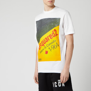 Dsquared2 Men's Diagonal Box Logo T-Shirt - White