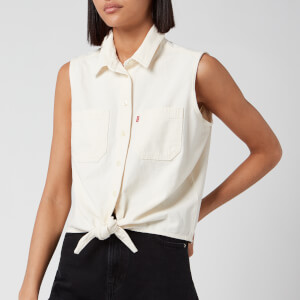 Levi's Women's Alina Tie Shirt - Icy Ecru