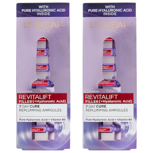 L'Oréal Paris Revitalift Filler Replumping Hyaluronic Ampoules Duo Pack - Exclusive