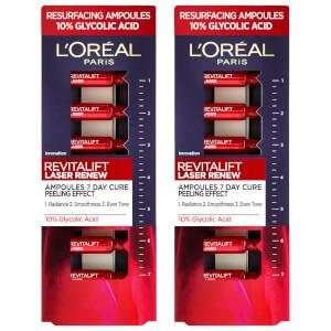 L'Oréal Paris Revitalift Laser Ampoules 10% Glycolic Acid Peel Duo Pack - Exclusive