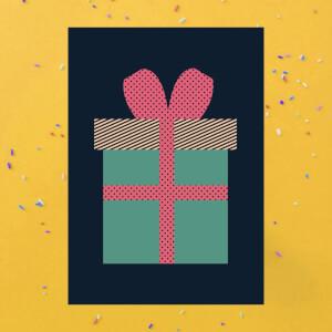 Plain Present Greetings Card