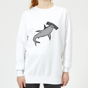 Hammer Head Shark Women's Sweatshirt - White