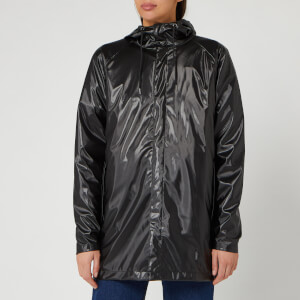 RAINS Short Coat - Shiny Black