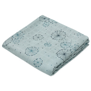 Cam Cam Printed Muslin Cloth - Dandelion Petrol (Pack of 2)