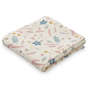 Cam Cam Printed Muslin Cloth - Pressed Leaves Rose (Pack of 2)