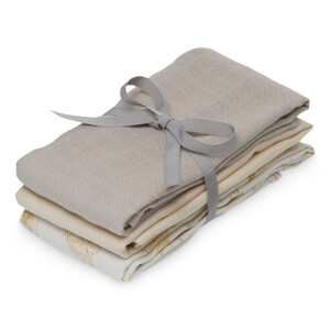 Cam Cam Muslin Cloth - Inventions, Hazel, Light Sand (Pack of 3)