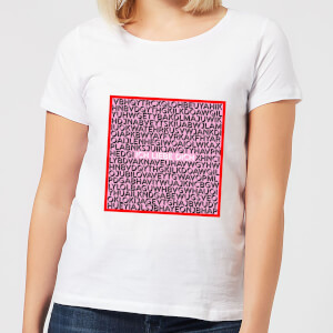 Ich Liebe Dich Word Search Frauen T-Shirt - Weiss