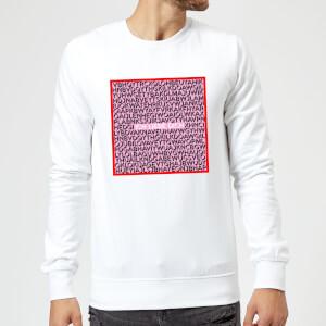 Ich Liebe Dich Word Search Pullover - Weiss