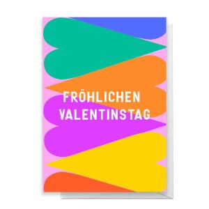 Fröhlichen Valentinstag Grußkarte