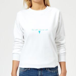 Es Ist Wie Es Ist Frauen Pullover - Weiss