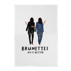 Brunettes Do It Better Cotton Tea Towel