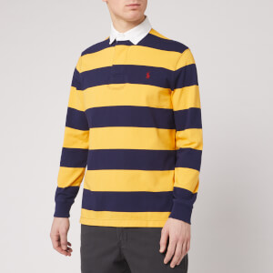Polo Ralph Lauren Men's Rugby Striped Shirt - French Navy/Gold Bugle