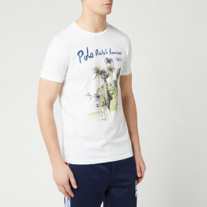 Polo Ralph Lauren Men's Short Sleeve Printed T-Shirt - White