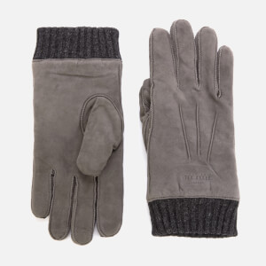Ted Baker Men's Ladd Suede Cuffed Gloves - Grey