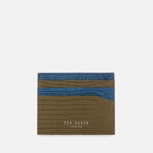 Ted Baker Men's Lizmag Exotic Print Cardholder - Olive
