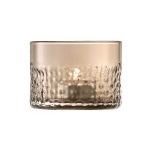 LSA Wicker Tealight - Taupe