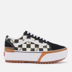 Vans Women's Old Skool Stacked Checkerboard Trainers - Multi/True White