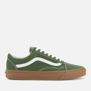 Vans Men's Old Skool Gum Sole Trainers - Green Pastures/True White