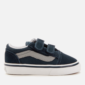 Vans Toddler's Old Skool Velcro Trainers - Dress Blues/Drizzle