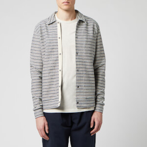 Oliver Spencer Men's Rundell Jersey Jacket - Navy/Oatmeal