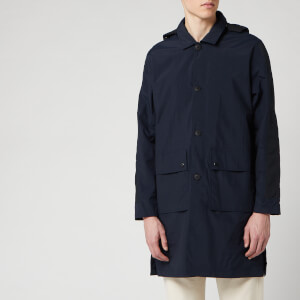Folk Men's Hooded Mac - Navy
