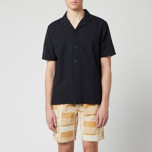 Folk Men's Overlay Shirt - Soft Black