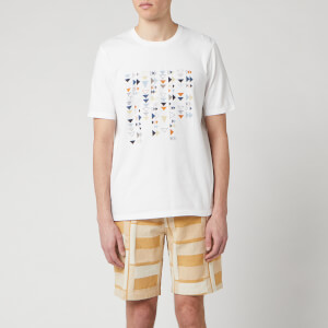 Folk Men's Multi Tile T-Shirt - White