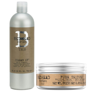 TIGI Bed Head for Men Men's Shampoo and Hair Wax Set