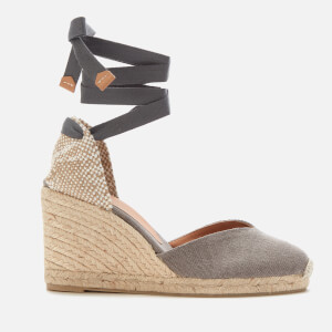 Castañer Women's Chiara Wedged Espadrille Sandals - Plomo