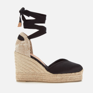 Castañer Women's Chiara Platform Wedged Espadrille Sandals - Black