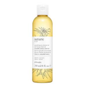 自然哲理瓶中自然滋养沐浴油 240ml | 含提取自大麻的大麻籽油