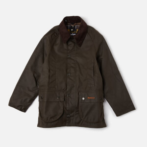 Barbour Boys' Beaufort Waxed Jacket - Olive