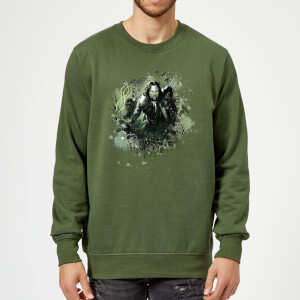 The Lord Of The Rings Aragorn Colour Splash Sweatshirt - Forest Green