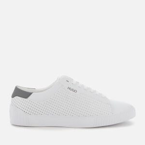 HUGO Men's Zero Tenn Perforated Leather Low Top Trainers - White