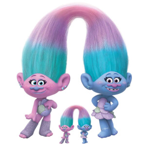 Trolls World Tour Sisters Satin & Chenile Oversized Cardboard Cut Out
