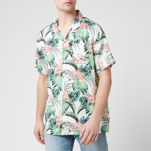Levi's Men's Cubano Shirt - Flamingo Leaf Print Cloud Dancer