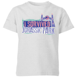 Jurassic Park I Survived Jurassic Park Kids' T-Shirt - Grey