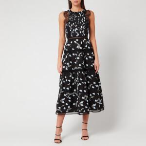 Self-Portrait Women's Abstract Geo Print Sleeveless Midi Dress - Multi