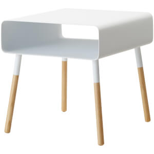 Yamazaki Plain Low Side Table - White