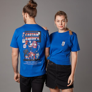 Marvel Captain America Issue 1 Unisex T-Shirt - Royales Blau